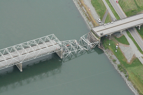 I-5 Skagit River Bridge - Aerial View
